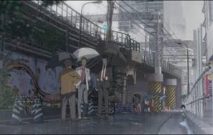 Die Brücke am Shinjuku O-Guard im gleichnamigen Stadtviertel Shinjuku und wurde für WEATHERING WITH YOU fast 1:1 nachgezeichnet, sogar Details wie die Wandbemalung oder die schwarz-gelb gestreiften Pfeiler lassen sich am Originalschauplatz finden.