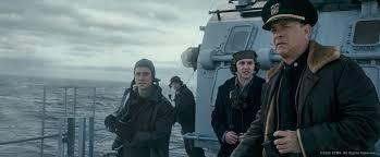 """Greyhoound. Ein Film über eine Story aus den zweiten Weltkrieg. Greyhound basiert auf einer wahren Geschichte und auf CS Foresters Roman """"Der gute Hirte""""."""