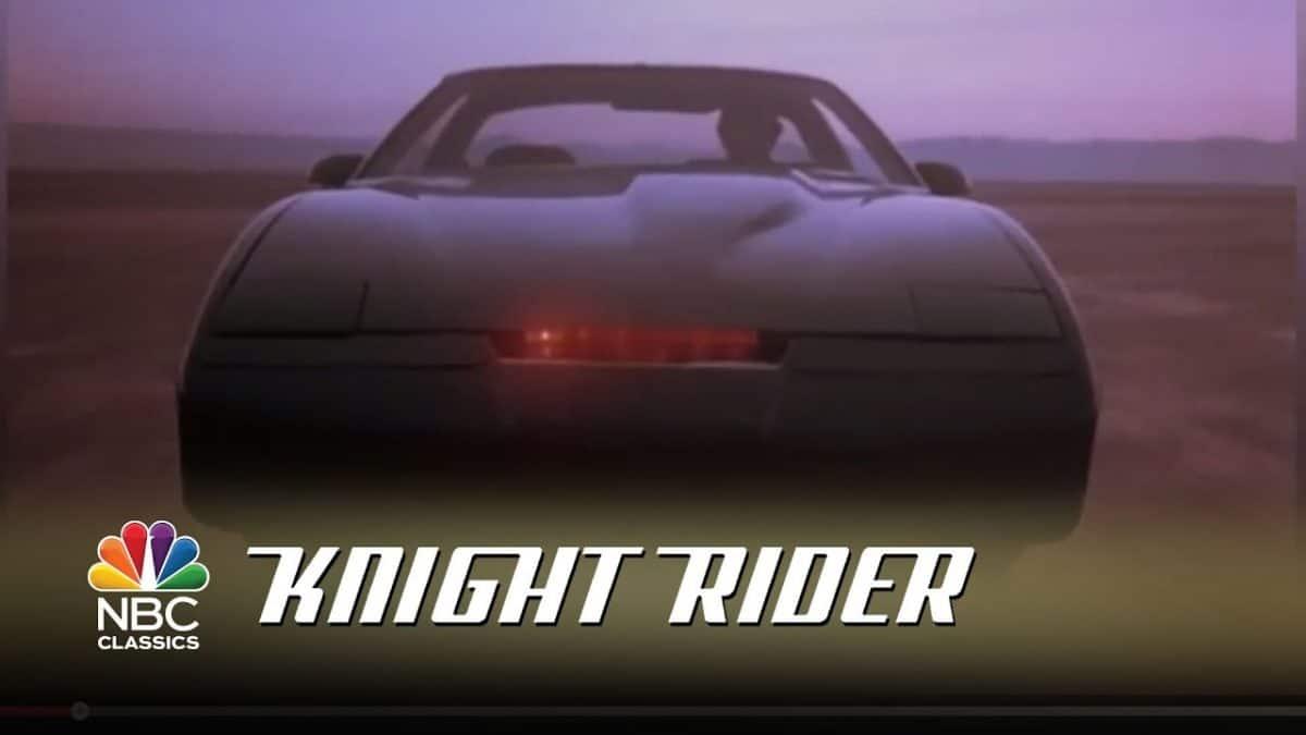 KITT aus Knight Rider von vorne gefilmt