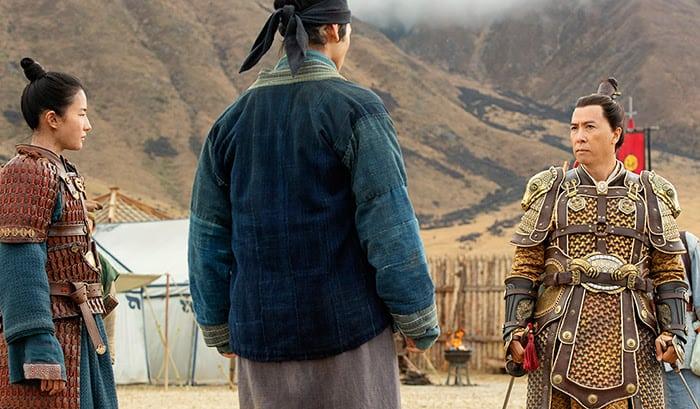 Donnie Yen als general und Mentor von Mulan