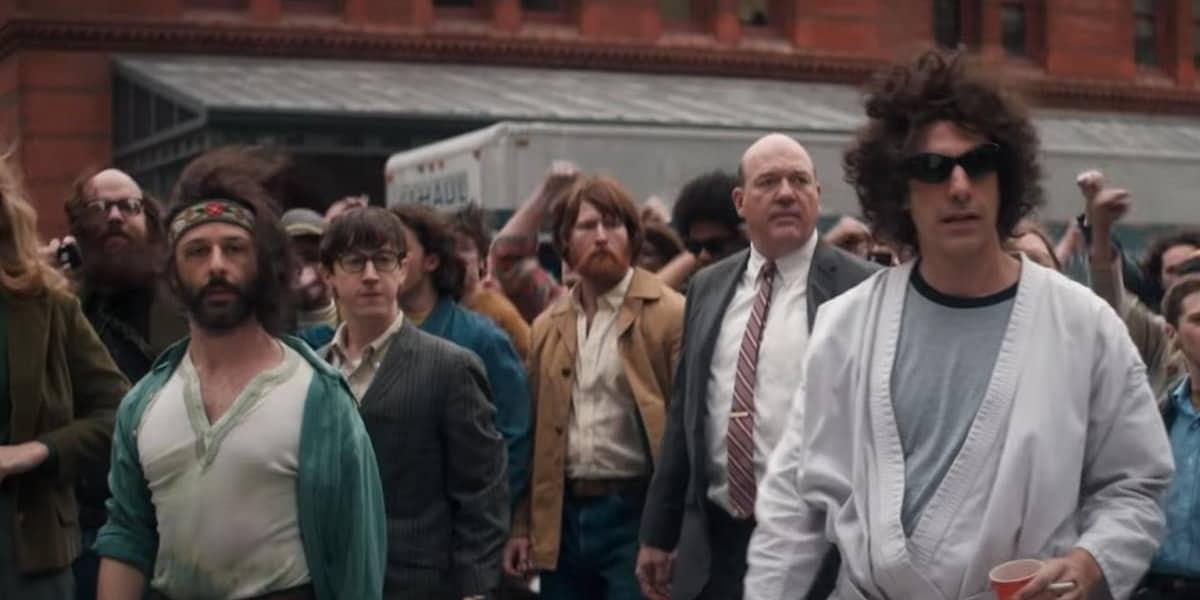 Sacha Baron Cohen als einer der Chicago 7, denen eine Prozess gemacht wurde im Zuge der Proteste gegen den Vietnam Krieg im Jahr 1969