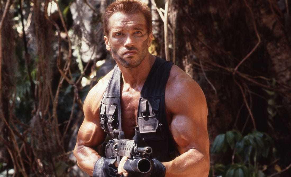 Arnold Schwarzenegger in Predator Film aus 1987