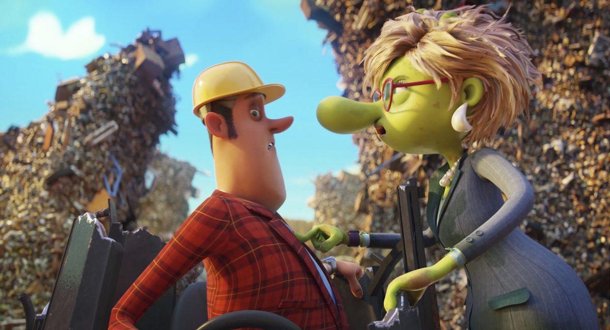 Max' Mutter ist ein Olchi und stellt sich Herrn Hammer in den Weg.