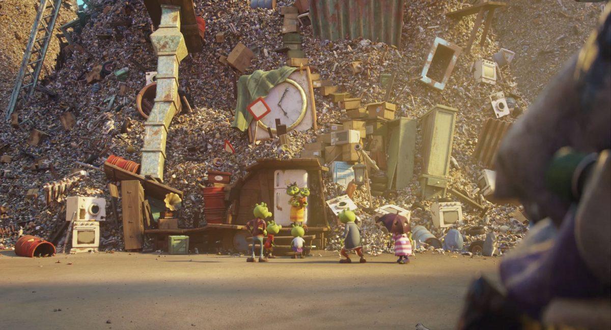 Die Olchis haben sich auf der Müllkippe schnell eingerichtet.