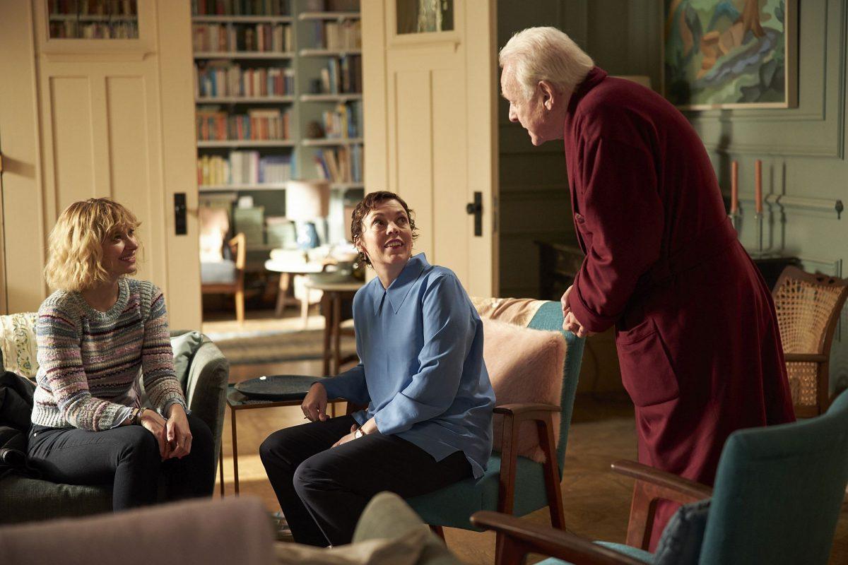 Imogen Poots (Laura), Anne (Olivia Colman), Anthony (Anthony Hopkins)