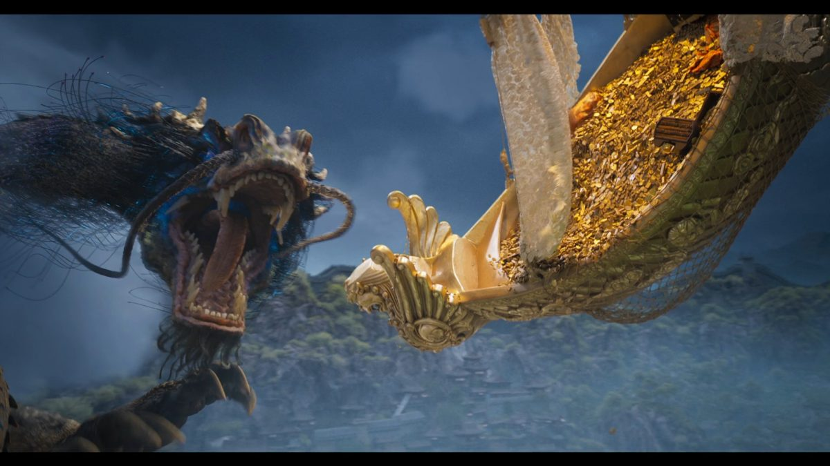 Drachenartige Monster greifen an