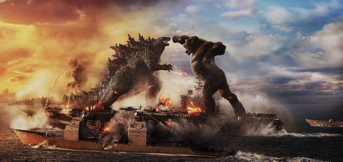 Godzilla vs. Kong auf einem Flugzeugträger