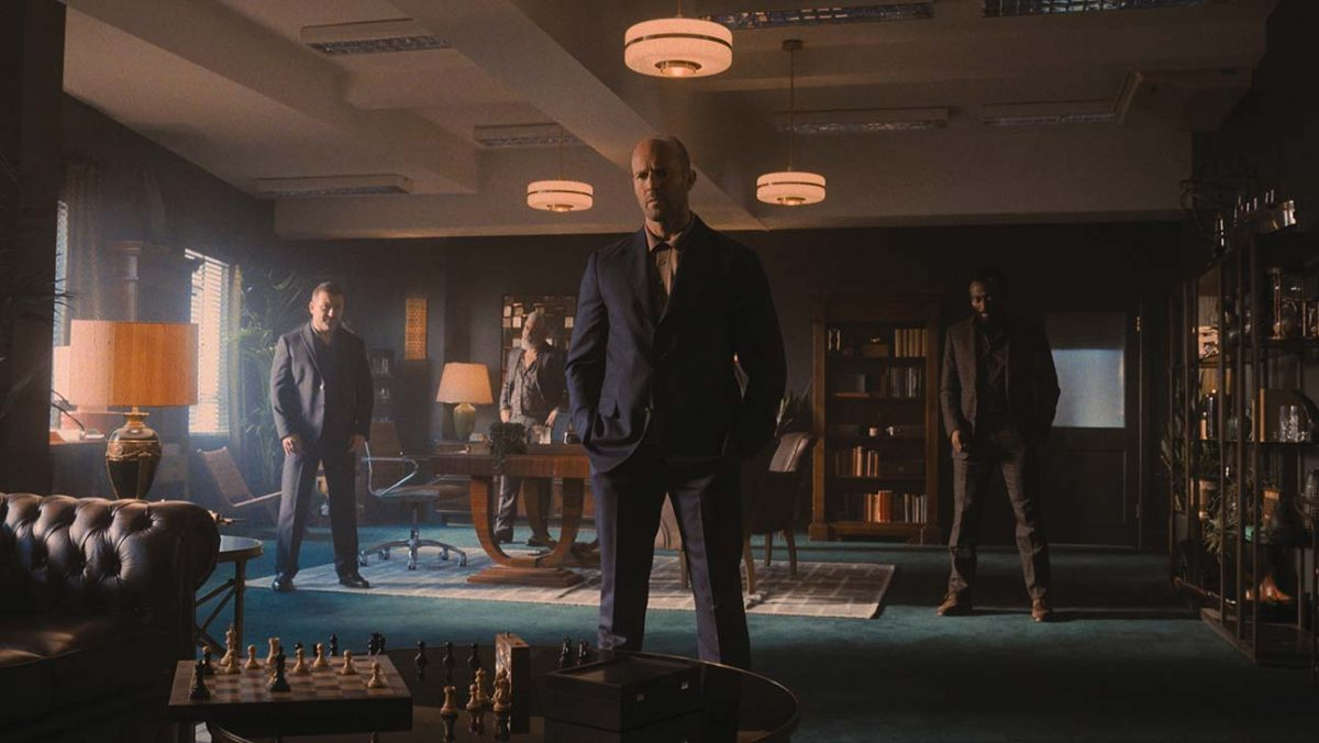 Cameron Jack als Brendan, Darrell D'Silva as Mike, Jason Statham als H, und Babs Olusanmokun as Moggy in Guy Ritchie's CASH TRUCK. © 2021 STUDIOCANAL. All Rights Reserved