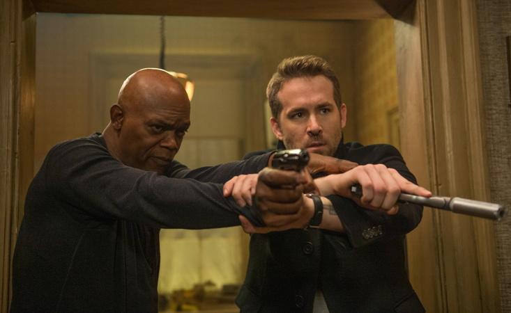 Ryan Reynolds und Samuel Jackson in –Killer's Bodyguard(2017)