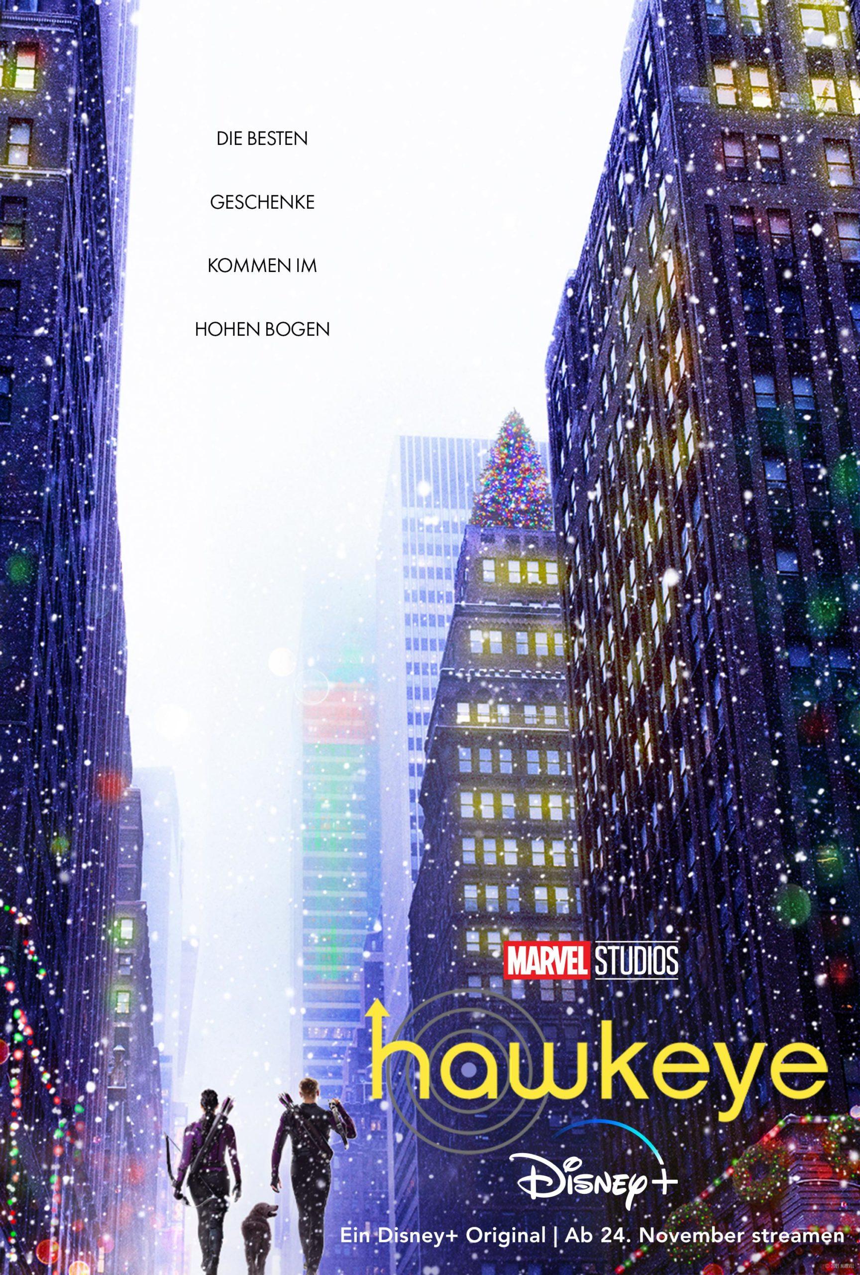 """Neuer 60-Sekunden Spot zu""""Hawkeye"""": Start der Serie ist am 24. November"""