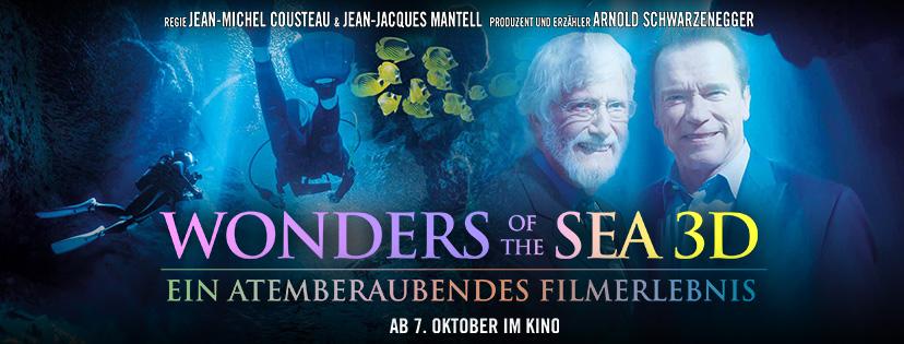 Wonders of the Sea Plakat mit Arnold Schwarzenegger und Jean-Michel Cousteau